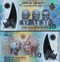 Namibia 30 Dollars 2020, UNC, Polymer, Comm.30 th Independence Anniversary,P-New
