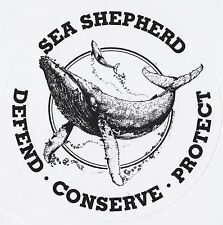 Sea Shepherd Vintage Logo Sticker - Whale Wars - Anti Whaling & Dolphin Hunting