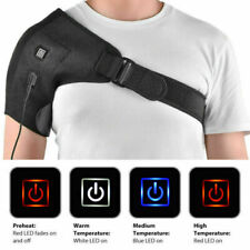 Adjustable Shoulder USB Heating Pad Brace PainRelief Heat Electric Back Therapy#