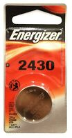 1 Energizer 2430 ECR2430 CR2430 Lithium 3-Volt Coin Cell Battery Exp 2025