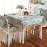 Embroidery Floral Lace Tablecloth Wedding Banquet Piano Party Home Table Cover