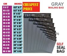 More details for grey mailing bags strong poly postal postage post mail selfseal mixed all sizes
