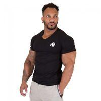 Gorilla Wear Essential V-Neck T-Shirt Black Schwarz Bodybuilding Fitness