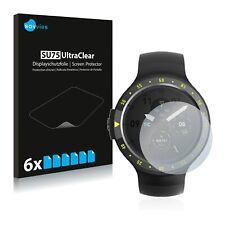 6x Displayschutzfolie für Mobvoi Ticwatch S Aurora / S Glacier / S Knight Klar