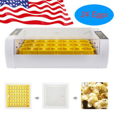 New listing 24 Egg Digital Incubator Hatcher Temperature Control Automatic Turning Chicken