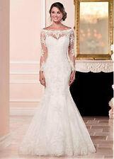 e039NEW White/Ivory Lace Wedding dress Bridal Gown Custom Size 4 6 8 10 12+++