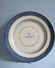 Pottery commemorative plate Christys London C1773-1923