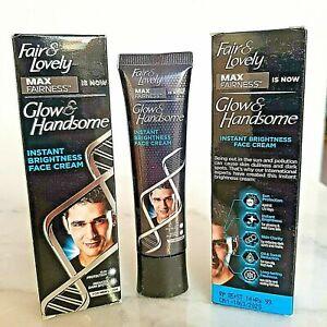 2 x Fair & Lovely Mens Max Fairness Glow Handsome Cream Face Lightening Male 25g