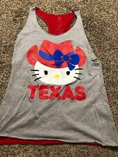 HELLO KITTY TEXAS COWGIRL JUNIORS TANK TOP SIZE S 3/5 Small