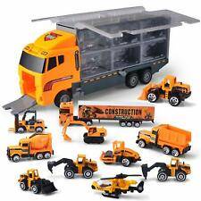 JOYIN 11 in 1 Die-cast Construction Truck Vehicle Car Toy Set Play Vehicles