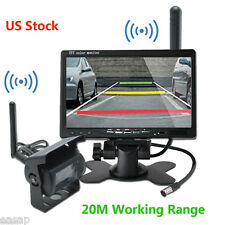 "7"" LCD Monitor+Wireless Rear View Backup Camera Night Vision For RV Truck System"