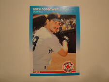 1987 Fleer Update #U-37 Mike Greenwell Rookie