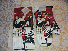 Kay Dee, Waiters Brigade ,Terry Towel and Oven Mitt- Set  -  2 Piece