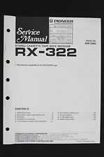 Pioneer rx-322 original stereo tape deck receiver service manual/WIRING DIAGRAM