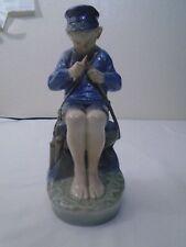 Royal Copenhagen No. 905 Boy Whittling A Stick Porcelain Figurine
