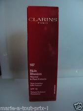 CLARINS SKIN ILLUSION MINERAL 107 FOND DE TEINT LUMIERE EFFET NATUREL SPF10