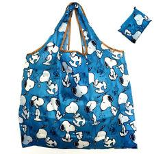Snoopy Foldable Shopping Nylon Bag ~ Blue