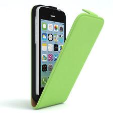 Tasche für Apple iPhone 5C Flip Case Schutz Hülle Handy Cover Grün