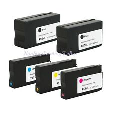 5PK 2BK & 3Color Hi-Yield Ink For HP 950 XL 951XL OfficeJet Pro 8600 8100 Series