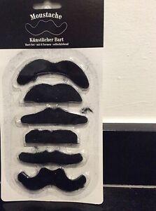Moustache Novelty Tash Stick On Fancy Dress/Dress Up/Stag Party/Xmas