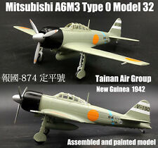 Japan A6M3 Type Zero Model 32 Tainan air group 1942 1/72 diecast plane DD model