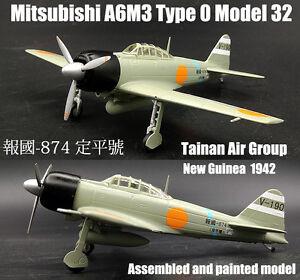 Japan A6M3 Type Zero Model 32 Tainan air group 1942 1/72 diecast plane DD model