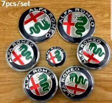 NUOVO Set 7 ALFA ROMEO 74mm badge emblemi cofano, stivale, ruote VOLANTE 56m