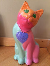"STEVE KAUFMAN ""ALL"" original CATS SCULPTURE SIGNED COA painting"
