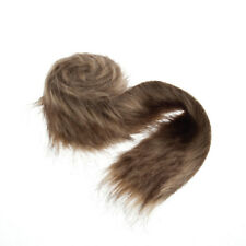 Faux Fur Ribbon Trim 8cm/3 Inches x 2m/6.6ft Roll Brown