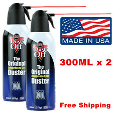 Notebook Laptop PC Keyboard Cleaner Dust-Off Compressed Air Duster 2x300 ml Pack