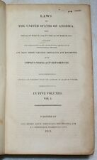 Laws United States of America 1789-1815 Official Edition Bioren 5V Constitution