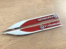 Red Metal VW Side Badge Emblem Sticker for VW Amarok CC PASSAT TIGUAN TOUAREG