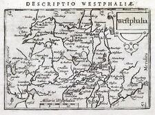 Alemania, Westfalia, Westfalia, Osnabruck Bertius. Original Antiguo mapa 1606