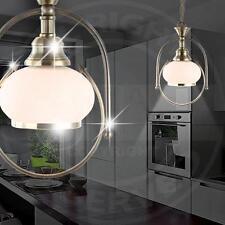 MIA Antik Hänge Leuchte Landhaus/ Rustikal/ Golden/ Glas/ Messing/ Pendel Lampe
