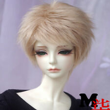 [wamami]Golden Flax Short Hair  Wool Wig Hair SD DOD DZ 1/3 BJD Dollfie 22-23cm