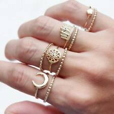9 pcs/set Ring Jewelry Punk Heart Moon Feather Dreamcatcher for Women Party