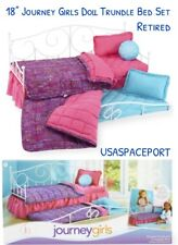"18"" Doll Floral Wildflower TRUNDLE BED+Bedding Set for Journey American Girl Boy"