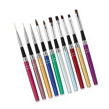 10-teiliges Nagel Pinsel Set für UV-Gel- und Acrylfingernägel Modellage