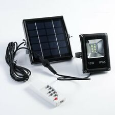 Solar Power LED Lights Sensor Flood Spot Outdoor Garden Security Lamp+Remote