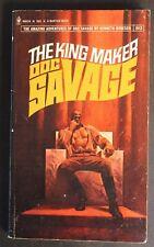 DOC SAVAGE #80 BANTAM 8624 THE KING MAKER KENNETH ROBESON 1st VG 1975