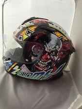 SUOMY SR SPORT GAMBLE TOP PLAYER CLOWN MOTORCYCLE  HELMET MEDIUM