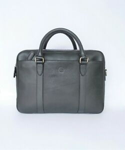 Onlyhides Full Grain Milled Leather Slim Laptop Bag $150 FREE WORLDWIDE SHIPPING