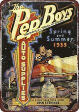 1935 Pep Boys Auto Supplies Vintage Look Reproduction 8 x 12 Metal Sign