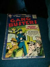 GANG BUSTERS #54 dc comics 1956 golden age crime tv radio show tommy gun cover
