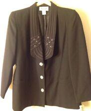 WOMEN'S 12 Black Blazer Rhinestone
