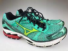 Mizuno Wave Inspire 8 Women Athletic Shoes Size 10.5 Aqua Green Running Sneakers