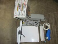 Stress Tested Nintendo Wii Console 1 Controllers 8x Games Mariokart Sports