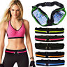 Sports Double Zipp Fanny Pack Belly Waist Bag Fitness Running Jogging Belt Pouch