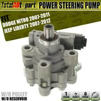 Power Steering Pump w/o Reservoir for Dodge Nitro Jeep Liberty 07-12 52129328AB
