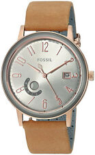 Fossil ES4266 Vintage Muse Grey Dial Tan Leather Strap Women's Watch